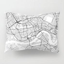 Rotterdam Map White Pillow Sham