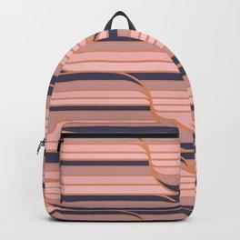 Geo Stripes - Navy & Neutral Backpack