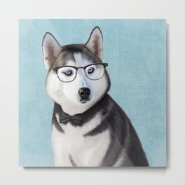 Mr Husky Metal Print