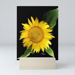 Summer Yellow Sunflower, Scanography Art, Flowers Mini Art Print