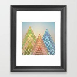 Geometric Christmas Trees 3 Framed Art Print