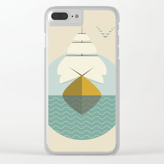 Sailboat Clear iPhone Case