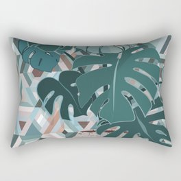 Monstera+mosaic Rectangular Pillow
