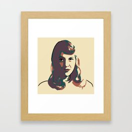 Sylvia Plath Framed Art Print