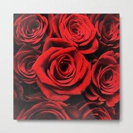 Vampire Kissed Blood Red Gothic Roses Metal Print