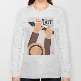 Safety Last!, Harold Lloyd movie poster, Hal Roach, 1923 film illustration Long Sleeve T-shirt