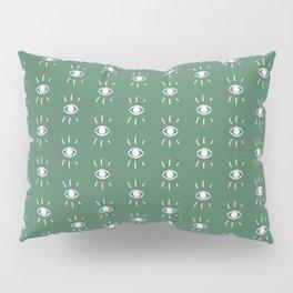 Eye Pattern in Green Pillow Sham