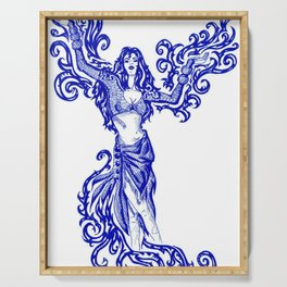 Gypsy of Blue Flame Serving Tray