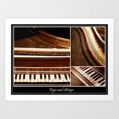 Keys and Strings Art Print