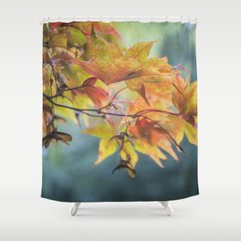 Yellow Acer Leaves Shower Curtain