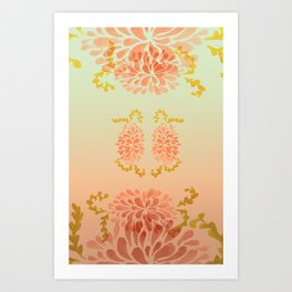 blooming peach Art Print