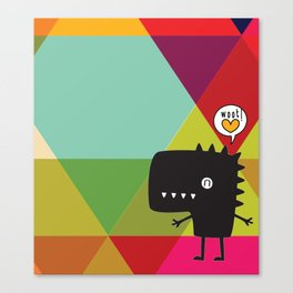 Woot! (Happy Dinosaur) Canvas Print