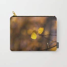 Yellow Glowing Aspen Leaf Carry-All Pouch
