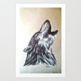 Western Wolf Art Print