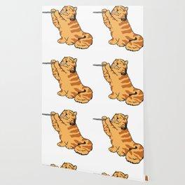 Transverse Flute Player Flutist Cat Kitten Gift Wallpaper