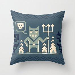 Skull collector Throw Pillow