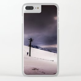 Snow Day Clear iPhone Case