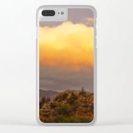 Desert Dream Clear iPhone Case