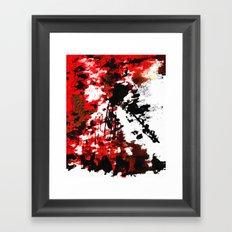 RED CHANEL BY Cd KIRVEN Framed Art Print