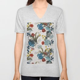 Tropical pattern Unisex V-Neck
