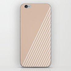 White & Pink Stripes iPhone & iPod Skin