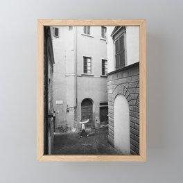 The Rain in Florence Framed Mini Art Print