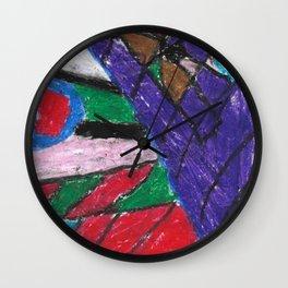 Window Wax Colors Wall Clock