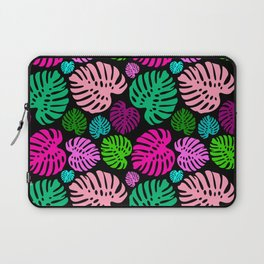 Simply Monstera in Multi + Black Laptop Sleeve