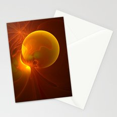 Sun abstract, Fractal Art Stationery Cards