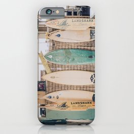 lets surf vii / pensacola beach, florida iPhone Case