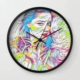 Amber Heard (Creative Illustration Art) Wall Clock
