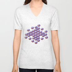 Cubes and stars Unisex V-Neck