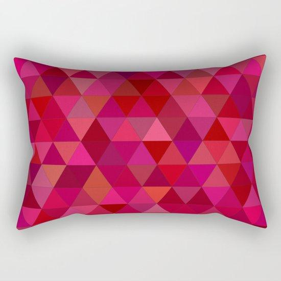 Bloody triangles Rectangular Pillow