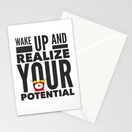 Best Entrepreneur Quotes - Wake Up And Realize Your Potential Stationery Cards