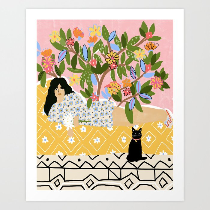 Paint Me Like One of Your French Ladies Art Print