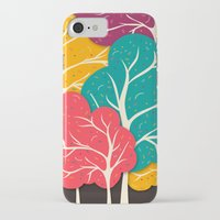 jazzberry iPhone & iPod Cases featuring Happy Forest by Danny Ivan