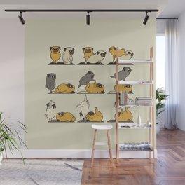AcroYoga with The Pug Wall Mural