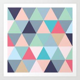 Geo Pastels Art Print