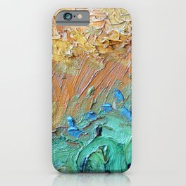Wheat Field with Cypresses Brush Detail by Vincent van Gogh iPhone Case