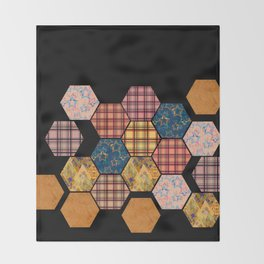 Country patchwork Throw Blanket