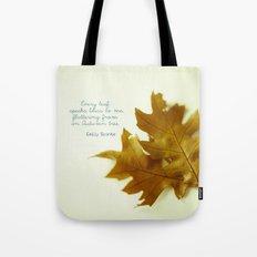 Every leaf speaks bliss Tote Bag