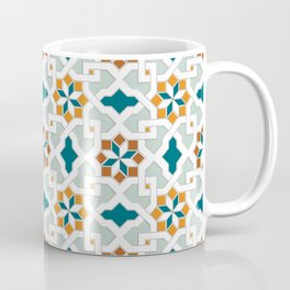 Geometric Pattern, oriental style (nature color set)  traditional morocco tile pattern Coffee Mug