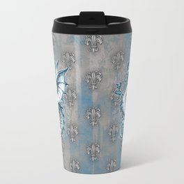 Noble House STEEL BLUE / Grungy heraldry design Travel Mug