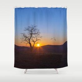 Sunset Over Buffalo Mountain Shower Curtain