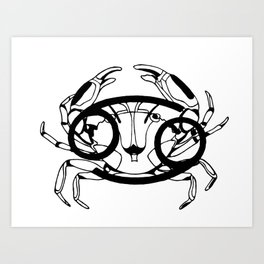 Cancer, the Crab Art Print