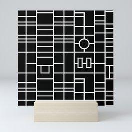 Map With Roundabout Mini Art Print
