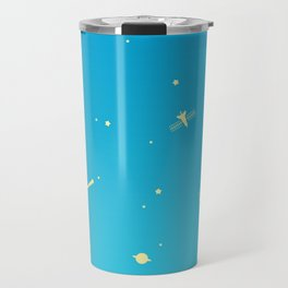 Outer Space Poster (Blue) Travel Mug