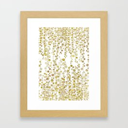 golden string of pearls watercolor Framed Art Print
