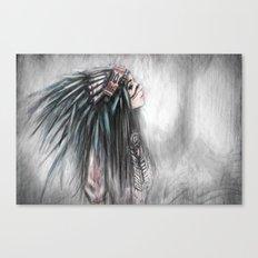 Walking Through Fog Canvas Print