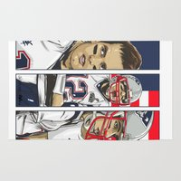 patriots Area & Throw Rugs featuring Brady Champion Super Bowl XLIX  by Akyanyme